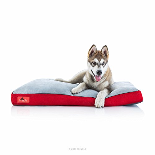 Dog Bed King (BRINDLE Soft Memory Foam Dog Bed with Removable Washable Cover - 40in x 26in - Red)