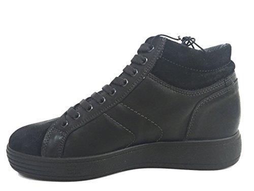 IGI&CO 8730 Nero Scarpa Uomo Sneaker Pelle Made in Italy