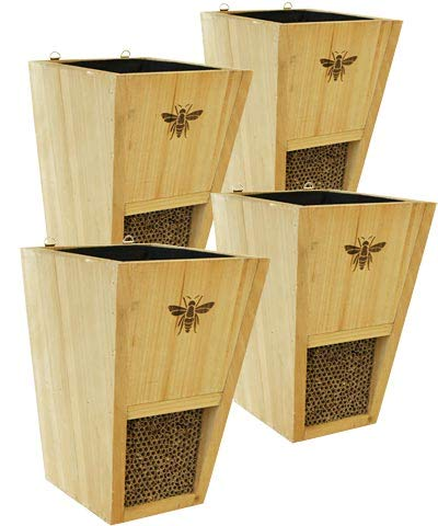 Set of 4 Woodlink Combination Mason Bee Houses and Planters by BestNest (Image #2)