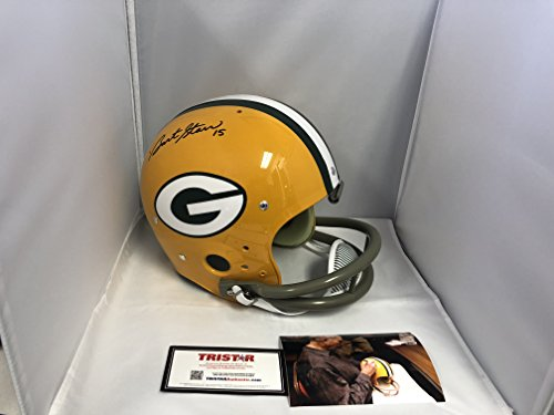 Bart Starr Signed Autographed Green Bay Packers Full Size Throwback TK Helmet Tristar Hologram & COA W/Photo From Signing (Starr Green)