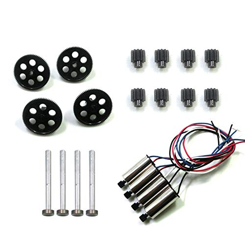 Generic RC Drone Parts VISUO XS809W XS809HW XS809 RC Quadcopter Spare Parts Spindle Geared Bearing Motor Geared Engine Pack 3