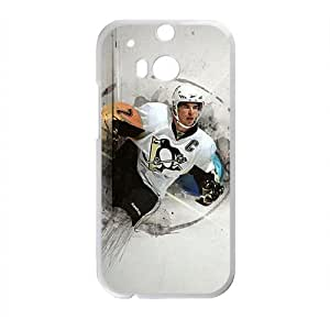 Happy Hockey NHL Sidney Crosby Pittsburgh Penguins Phone Case for HTC One M8
