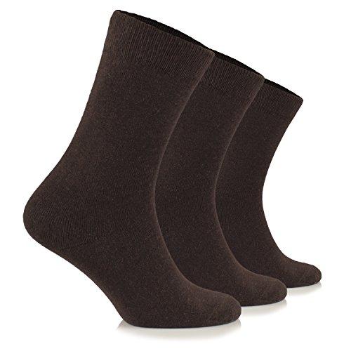 Junix Women's Cotton (Shoe Size 9-12, Dark Brown)