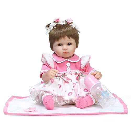 markids 17インチ/42 cmシリコンReborn DollsソフトウェアToys Girl Playmate Gift for Girls布ボディ   B07BJ1KG68