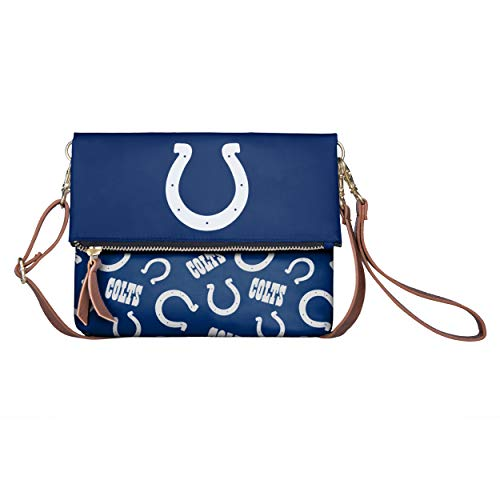 FOCO NFL Indianapolis Colts Womens Printed Collection Foldover Tote Bagprinted Collection Foldover Tote Bag, Team Color, One -
