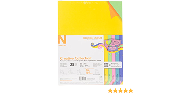 Multi-Colour 27.94 x 21.59 x 0.63 cm Neenah Paper Metallic Cardstock