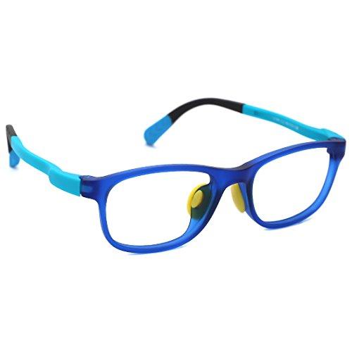 modesoda Kids Non-Prescription Eyeglasses Frame,Optical Glasses Student Glasses Clear Lens for Age 3-5 Boys ()