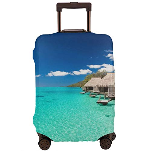 Turquoise Sea Zipper Travel Luggage Suitcase Protector Baggage Protector Anti-Scratch Luggage Case Dustproof Protective Cover Fits 18-28 Inch Suitcase, Washable
