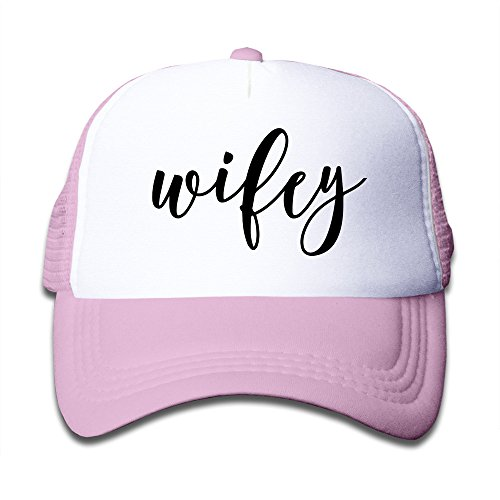 WZN Lettered Wifey Baseball Caps With Pink For Youth ()