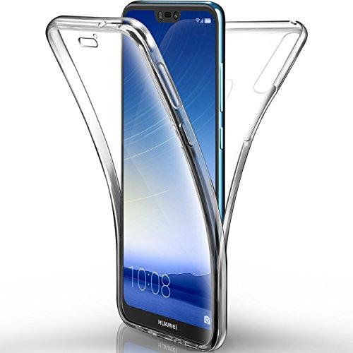 super popolare a4d27 c834b Cover Huawei P20 Lite Custodia, Leathlux Cover P20 Lite Silicone Morbido  Trasparente TPU Full Body Protettiva Resistente Ai Graffi Case Cover Per ...