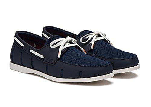 Simmar Mens Båt Loafers Marinblå / Vit
