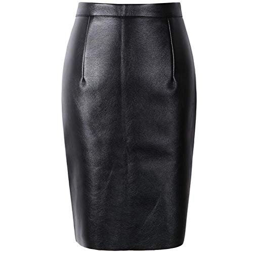 betterluse Winter Skirt Sexy Faux Fur Leather Pu High Waist Women Pencil Skirts Wrap Bodycon Short Girls Tutu Saia,Black,S (Zara Faux Leather Pencil Skirt)