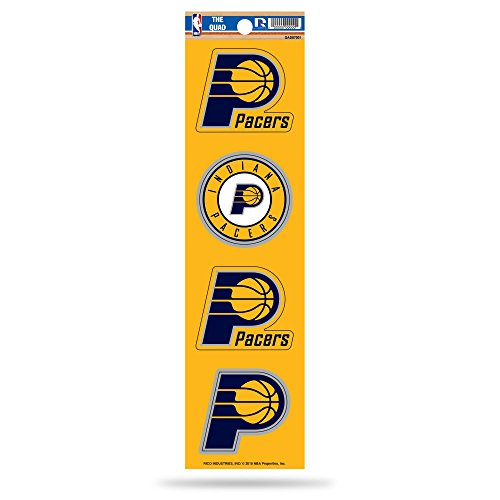 Rico Industries NBA Indiana Pacers Die Cut 4-Piece The Quad Sticker -