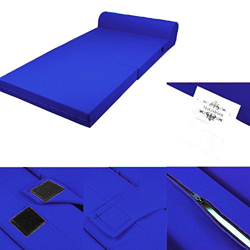 Blue Foam Seat Mattress Sleeper Chair Folding Floor Bed Kid Bed 3 Sizes (Standard) by Magshion Furniture