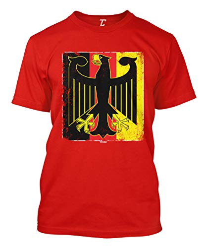 German Eagle Coat Of Arms - German Eagle - Deutschland Coat of Arms Men's T-Shirt (Red, X-Large)