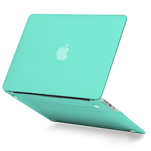 GMYLE Turquoise Blue Soft-Touch Matte Frosted Plastic Hard Case Print for Apple MacBook Air 11 inch (Model: A1370/A1465) [2010-2015 Release] ()
