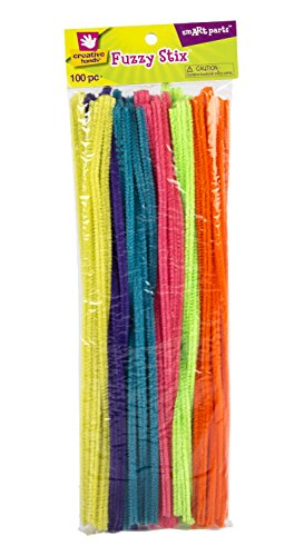 creative-hands-by-fibre-craft-fuzzy-stix-chenille-stems-100-pack-12-inch-multicolored