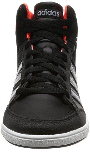 adidas Hoops Mid K, Zapatillas de Deporte para Niños Negro (Negbas / Gris / Rojsol)