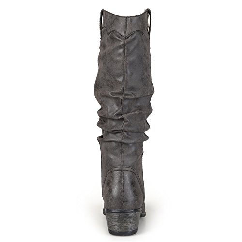 Collection Faux Journee Journee Leather Womens Boots Black Slouch Collection Riding qXTEx41fXw