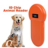 Animal ID Reader, fosa 134.2Khz Animal ID Microchip Scanner LCD Display Real Time ISO ID Chip Animal Reader RFID Dog Microchip Handheld Pet Scanner Protable