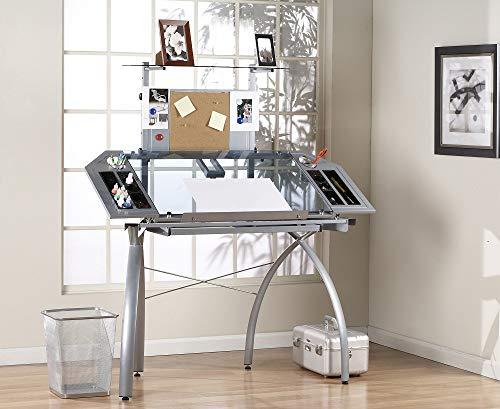Studio Designs 10057 Futura Tower, Silver/Blue Glass