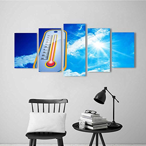 Wulian Combination of Decorative Painting Frameless A Thermometer Under The Sun for Wall Decor ()