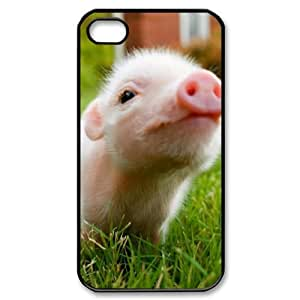 Little Pig Phone Case For Iphone 4/4s [Pattern-1] by lolosakes