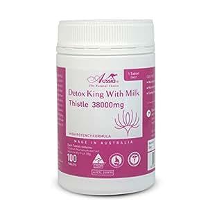 Detox King Milk Thistle 100 x 38000mg Strong Liver Detoxifier Gel Capsules - Australian Made