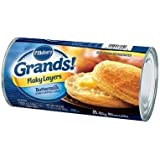 Pillsbury Grands Flaky Layers Unbaked Buttermilk Biscuit, 16.3 Ounce -- 12 per case.