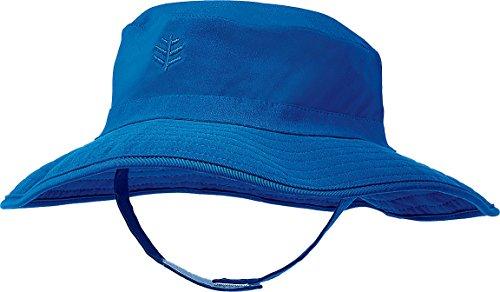 Coolibar UPF 50+ Baby Splashy Bucket Hat - Sun Protective (6-12 Months- Blue Wave)
