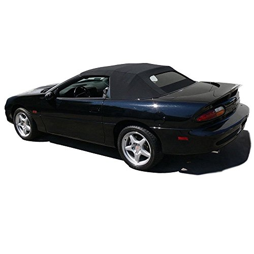 Fits: Chevrolet Camaro 1994-2002 Convertible top & Heated Glass window Black Twill (Convertible Camaro Parts)