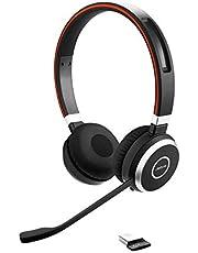 Jabra Evolve 65 UC Stereo, Draadloze Bluetooth-Headset, Bellen En Muziek Luisteren, Geoptimaliseerd Voor Unified Communications