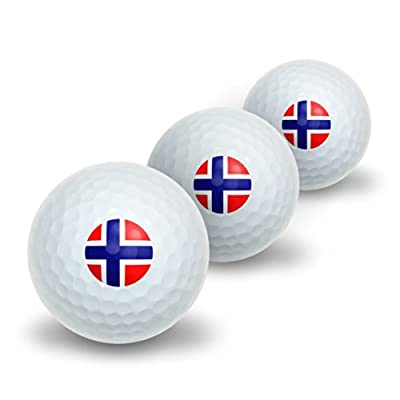 Norway Norwegian Flag Novelty Golf Balls 3 Pack