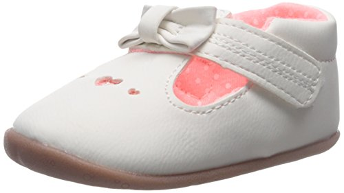 (Carter's Every Step Stage 2 Girl's Standing Shoe, Becca (Infant/Toddler), White/Pink, 5 M US Toddler)