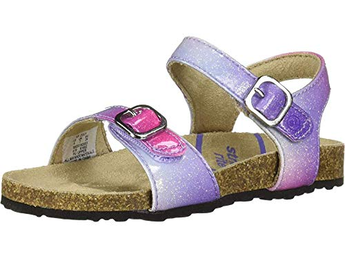 Stride Rite Zuly Girl's Buckle Sandal, Pink Multi, 7 M US Toddler