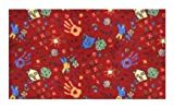 Scribbles Red Multi - 2'x3' Custom Stainmaster Premium Nylon Carpet Area Rug ~ Bound Finished Edges