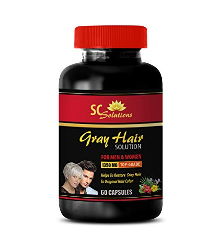 Anti Gray Hair Vitamins - Anti-Gray Hair Solution - for Men and Women - Saw Palmetto and biotin - 1 Bottle (60 Capsules)