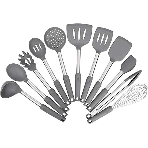 Kitchen Utensil Set – Silicone Cooking Utensils – Stainless Steel Kitchen Utensils Set – Silicone Spatula Set Utensil Set – Silicone Utensils Cooking Utensil Set – Kitchen Tools Gadgets