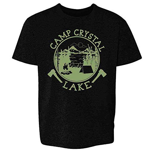 Pop Threads Camp Crystal Lake Counselor T Shirt Horror Costume Black S Youth Kids Girl Boy - Shirt Camp Girls