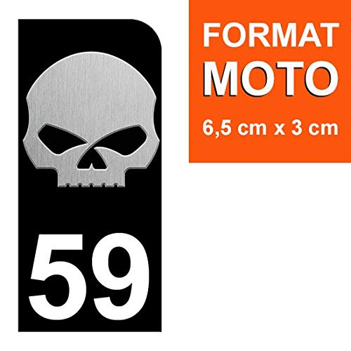 THELITTLESTICKER 1 Sticker pour Plaque dimmatriculation Moto Nos Stickers sont recouvert dun pelliculage de Protection sp/écifique 59 Harley Davidson Skull Stickers Garanti 5 Ans