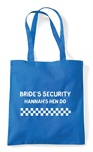 Security Customised Sapphire Personalised Bride's Hen Bag Tote Party Shopper Do F7Uq4T