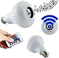 Lampada Led Colorida Musica com Caixa de Som e Bluetooth