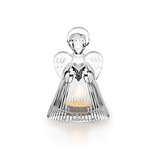 Celebrations by Mikasa Rejoice Crystal Angel Tealight Holder, 5.25-Inch