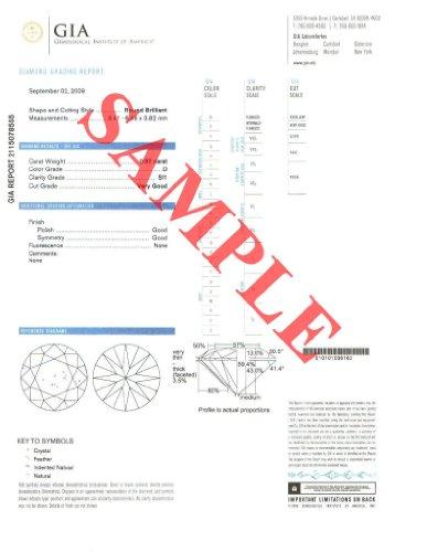 Diamant Rond taillés (0.51 Ct, E Couleur,VS1 Clarté) GIA Certifié