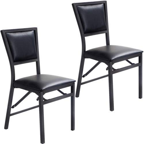 - Set of 2 Folding Dining Chair Metal Frame Home Restaurant Furniture Portable with Ebook