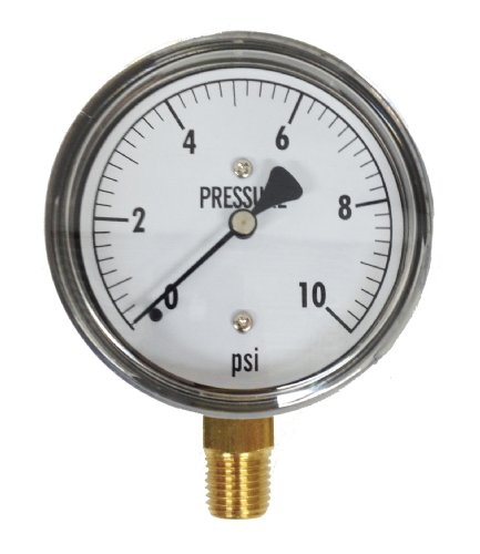 Kodiak Controls KC25-10# Low Pressure Gauge 10 PSI ()