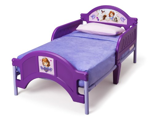 Delta children plastic toddler bed disney junior sofia for Baby and kids first furniture