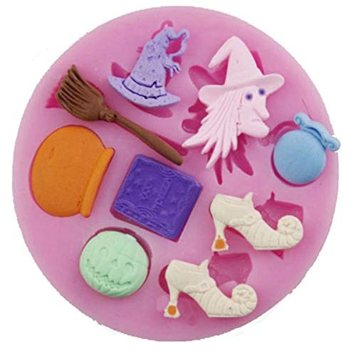 Witch Halloween 9 Cavity Silicone -