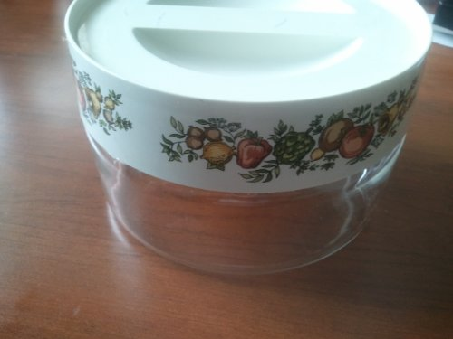 (Vintage Pyrex Spice of Life Store N' See Canister Collectible)