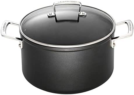 Le Creuset Toughened Nonstick 6 1 3- Quart Stockpot with Glass Lid